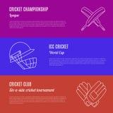Concetto di vettore del gioco del cricket Fotografia Stock
