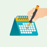 Concetto di vettore della gestione di tempo di termine royalty illustrazione gratis