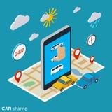 Concetto di vettore di car sharing Immagine Stock