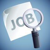 Concetto di vettore - ricerca di job Fotografia Stock Libera da Diritti