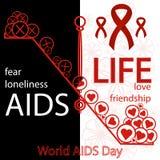 Concetto di vettore sulla Giornata mondiale contro l'AIDS Aiuta la consapevolezza illustrazione di stock
