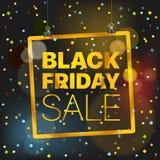 Concetto di vettore di vendita di Black Friday Annerisca venerdì Immagini Stock Libere da Diritti