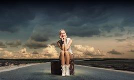 Concetto di viaggio Fotografia Stock