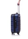 Concetto di viaggio con il suitacase dei bagagli isolato Fotografia Stock