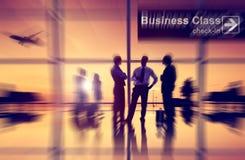 Concetto di viaggio d'affari del trasporto di aria dell'aeroplano dell'aeroporto Immagine Stock Libera da Diritti