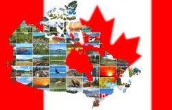Concetto di viaggio del Canada Fotografie Stock Libere da Diritti