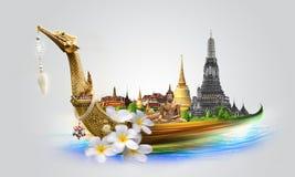 Concetto di viaggio della Tailandia Immagini Stock Libere da Diritti