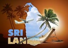 Concetto di viaggio dello Sri Lanka Immagini Stock Libere da Diritti
