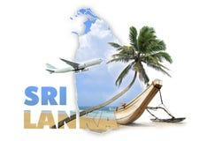 Concetto di viaggio dello Sri Lanka Fotografie Stock