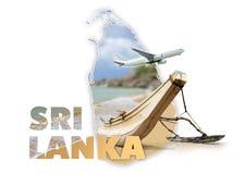 Concetto di viaggio dello Sri Lanka Fotografia Stock Libera da Diritti