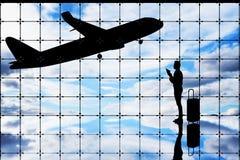 Concetto di viaggio di affari fotografie stock libere da diritti