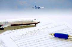 Concetto di viaggio di applicazione di passaporto Fotografie Stock