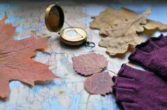 Concetto di viaggio di autunno Fotografie Stock Libere da Diritti