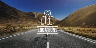 Concetto di viaggio di vacanza di navigazione della destinazione di posizioni immagini stock libere da diritti
