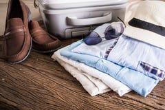 Concetto di viaggio, di vacanze estive, di turismo e degli oggetti Fotografia Stock Libera da Diritti