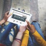 Concetto di viaggio di viaggio di viaggio di prenotazione del biglietto fotografia stock libera da diritti
