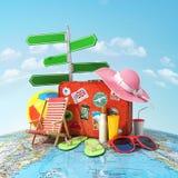 Concetto di viaggio e di ricreazione Immagini Stock