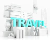 concetto di viaggio di parola 3d Fotografie Stock