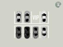 Concetto di VIP, parcheggio eccellente dell'automobile Fotografia Stock