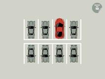 Concetto di VIP, parcheggio eccellente a parcheggio Immagine Stock
