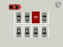 Concetto di VIP, parcheggio rosso di VIP Immagine Stock