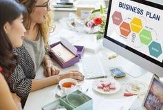 Concetto di visione della soluzione di strategia di pianificazione del business plan immagini stock