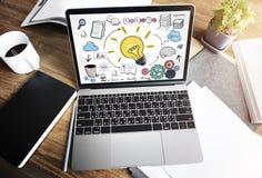 Concetto di visione di conoscenza di creatività dell'innovazione di idee di pianificazione Immagine Stock