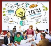 Concetto di visione di ispirazione di conoscenza di creatività dell'innovazione di idee Fotografia Stock Libera da Diritti