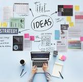 Concetto di visione di strategia di proposta di missione di concetto di idee fotografia stock