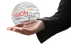Concetto di visione nel commercio Fotografia Stock