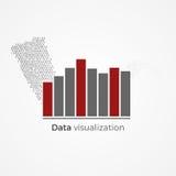 Concetto di visualizzazione di dati Fotografia Stock