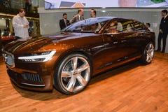 Concetto di Volvo es al salone dell'automobile di Ginevra Immagine Stock