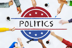 Concetto di voto di democrazia del referendum di governo di politica Immagini Stock