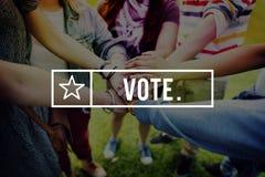 Concetto di voto di scrutinio di votazione Choice di elezione dell'elettore di voto Immagini Stock Libere da Diritti