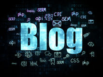 Concetto di web design: Blog sul fondo di Digital Fotografie Stock Libere da Diritti
