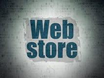 Concetto di web design: Deposito di web sul fondo della carta di dati di Digital Fotografia Stock