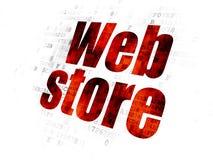 Concetto di web design: Deposito di web sul fondo di Digital Fotografia Stock Libera da Diritti