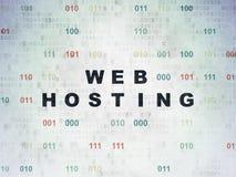 Concetto di web design: Web hosting sul fondo della carta di dati di Digital Immagine Stock Libera da Diritti