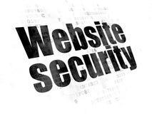 Concetto di web design: Sicurezza del sito Web sul fondo di Digital Fotografia Stock Libera da Diritti