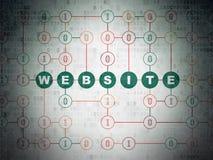 Concetto di web design: Sito Web sul fondo della carta di dati di Digital Fotografia Stock