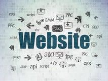 Concetto di web design: Sito Web sul fondo della carta di dati di Digital Fotografie Stock