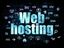 Concetto di web design: Web hosting su Digital Immagini Stock