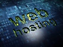 Concetto di web design: Web hosting sul fondo di schermo digitale Fotografia Stock Libera da Diritti