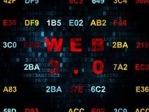 Concetto di web design: Web 3 0 sul fondo di Digital Fotografie Stock Libere da Diritti