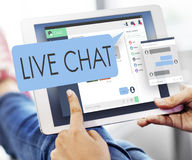 Concetto di web di Live Chat Chatting Communication Digital Fotografia Stock Libera da Diritti