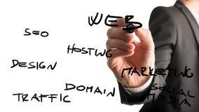 Concetto di web SEO Fotografia Stock
