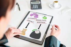 Concetto di Weightloss su una lavagna per appunti Immagine Stock Libera da Diritti