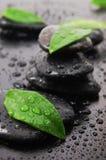 Concetto di Wellness con la pietra di zen Fotografie Stock Libere da Diritti
