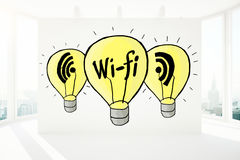 Concetto di Wi-Fi Fotografia Stock Libera da Diritti