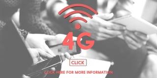 concetto di Wifi di tecnologia di rete internet di 4G Digital Fotografia Stock